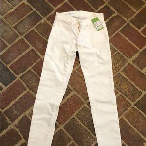 BNWT Lilly Pulitzer White Worth Skinny Jeans 0